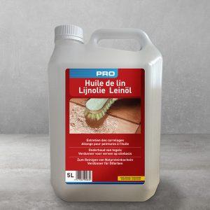 Huile de lin crue canister of Lambert Chemicals