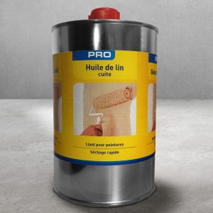 Huile de lin cuite canister of Lambert Chemicals